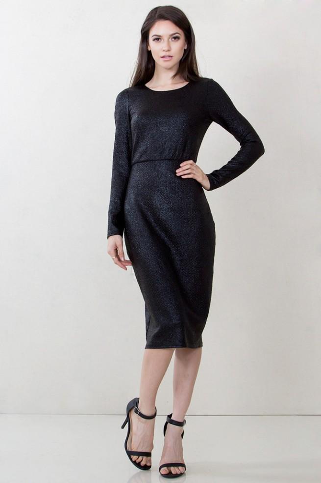 black midi dress by mod&soul
